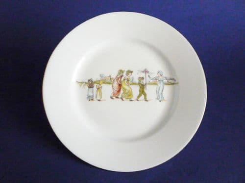 Rare Shelley Kate Greenaway Style Child's Plate c1915