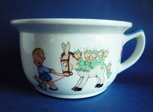 Rare Shelley Mabel Lucie Attwell Nursery Ware Child's Potty c1930