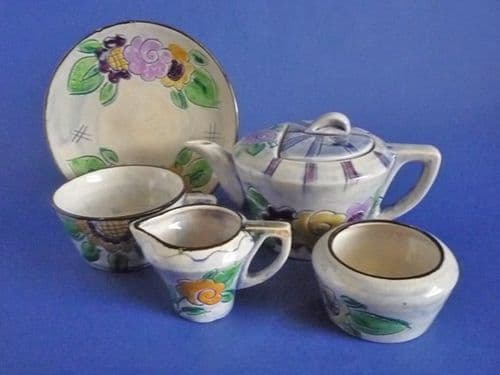 Rare Shorter and Son 'Medina' Art Deco Breakfast Set by Mabel Leigh c1935