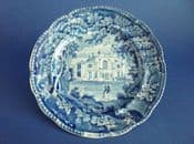 Rare William Adams 'Villa in the Regents Park, London' Dessert Plate c1825