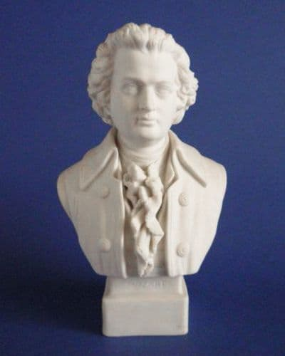 Robinson and Leadbeater Parian Ware Bust of Mozart c1890