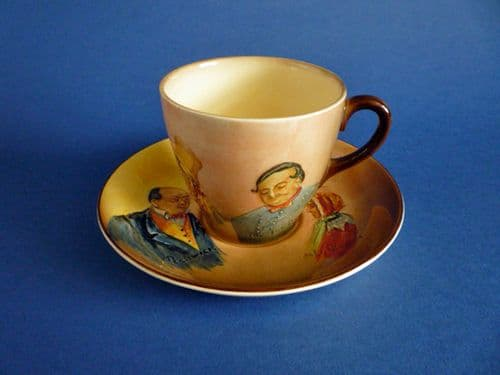 Royal Doulton Dickens Series 'E' Low Relief Tea Cup and Saucer c1939