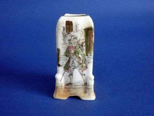Royal Doulton Dickens Ware 'Barnaby Rudge' Empire State Vase D2973 c1930