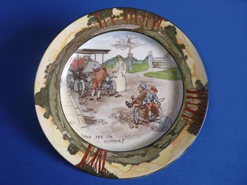 Royal Doulton Early Motoring 'Itch Yer On Guvenor' Rack Plate D2406 c1908