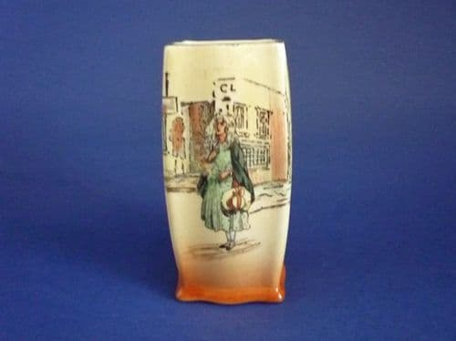 Royal Doulton 'Little Nell' Dickens Ware Vase D5175 c1935