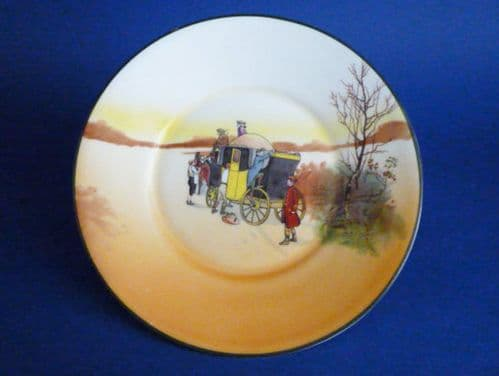 Royal Doulton Series Ware Bone China 'Coaching Days' Small Rack Plate by Victor Venner c1927