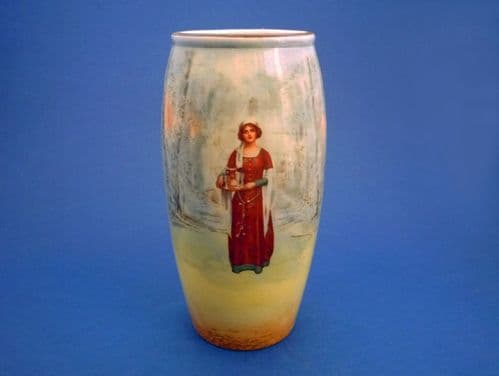 Royal Doulton Shakespearean Characters 'Anne Page' Series Ware Vase D3596 c1915