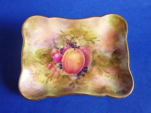 Royal Winton Hand Painted 'Fruit' Candy or Trinket Dish signed Z. Kas c1950