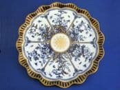 Royal Worcester Blue and Gold Aesthetic Movement Plate c1880