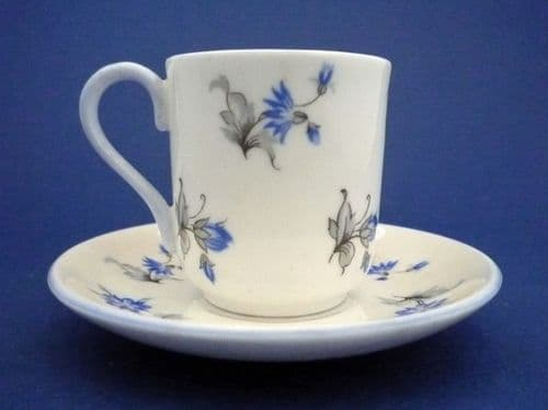 Shelley 'Blue Charm' Miniature Cup and Saucer c1939