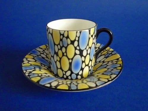 Shelley 'Bubbles' Coffee Can and Saucer c1925