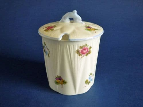 Shelley Fine Bone China 'Rose, Pansy and Forget-me-not' Pattern 13424 Preserve Jar c1945