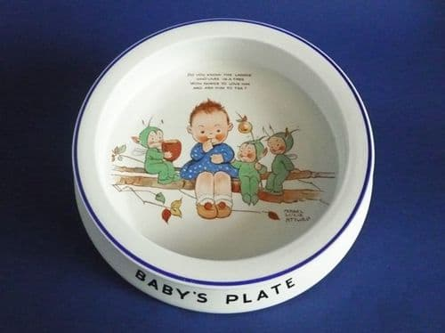Shelley Mabel Lucie Attwell 'Do You Know The Laddie' Nursery Ware Baby's Dish c1930