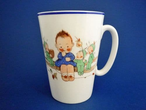 Shelley Mabel Lucie Attwell 'Do You Know The Laddie' Nursery Ware Mug c1930
