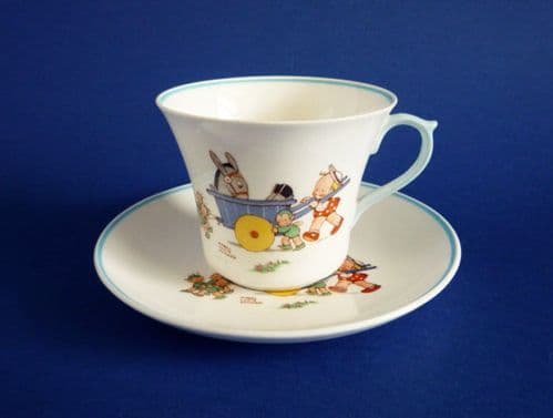 Shelley Mabel Lucie Attwell 'I had a donkey and a cart' Child's Cup and Saucer c1940