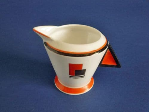 Shelley Mode 'Coral Red Block' Pattern 11792 Jug c1930 (Sold)