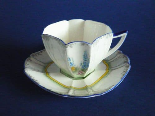 Shelley Queen Anne 'My Garden' Pattern 11607 Tea Cup and Saucer c1928 (Sold)