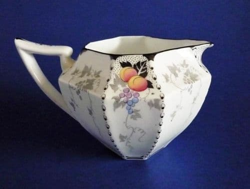 Shelley Queen Anne 'Peaches and Grapes' Pattern 11498 Milk Jug c1926