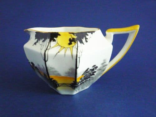 Shelley Queen Anne 'Sunrise and Tall Trees' Pattern 11678 Cream Jug c1930