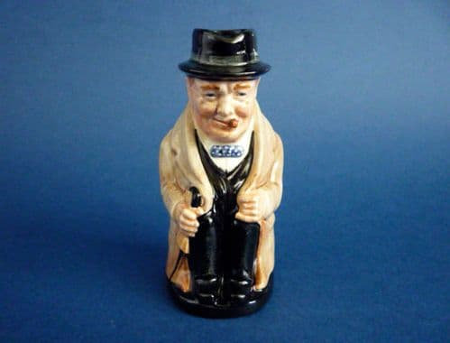 Small Royal Doulton 'Winston Churchill' Seated Toby D6175 (Sold)