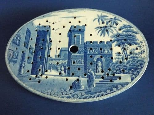 Spode 'Castle of Boudron' Caramanian Series Oval Drainer c1815 #2