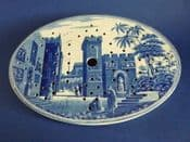 Spode 'Castle of Boudron' Caramanian Series Oval Drainer c1815