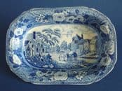 Superb Minton 'Monk's Rock' Series Baking Dish c1820