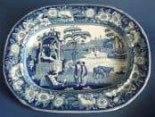 Superb Robert Hamilton 'The Philosopher' Pearlware Meat Plate c1820
