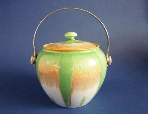 Superb Shelley Harmony Drip Ware Biscuit Barrel c1930