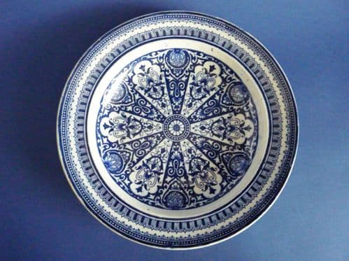 Unusual Pearlware 'India' Floral Pattern Soup Dish c1830