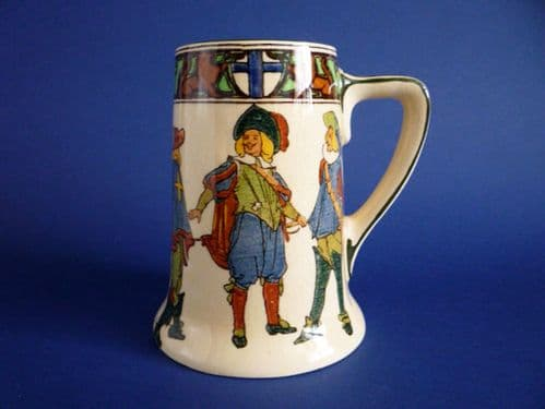 Unusual Royal Doulton Series Ware 'New Cavaliers' Stein or Tankard D4749 c1928