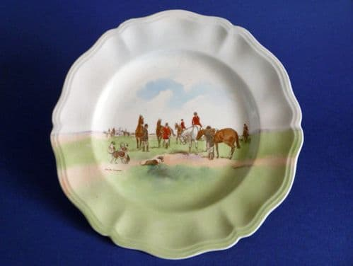 Vintage Royal Doulton Hunting 'Changing Horses' by Charles Simpson Rack Plate D6326 c1950