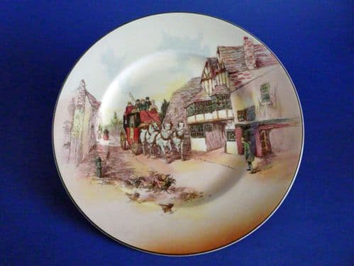 Vintage Royal Doulton Series Ware 'Old English Coaching Scenes' Rack Plate D6393 c1955