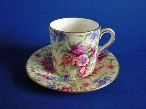 Vintage Royal Winton 'Mayfair' Chintz Coffee Can and Saucer c1951 #2