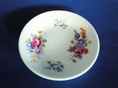 Vintage Shelley Fine Bone China 'Floral Bouquet' Pin Dish or Coaster