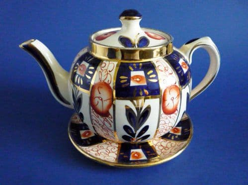 Vintage Sudlow's Gaudy Welsh Teapot and Stand c1930