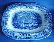 Wallace and Co. of Newcastle 'Rural Scenery' Meat Platter c1850