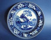 """Wedgwood Blue and White 'Fallow Deer' 8"""" Side Plate c1924"""