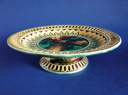 Wedgwood Majolica Low Comport with Reticulated Rim c1871