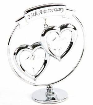A CRYSTOCRAFT 25th ANNIVERSARY - CAKE TOPPER AND GIFT - SWAROVSKI CRYSTAL
