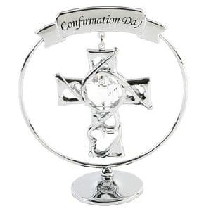A CRYSTOCRAFT CONFIRMATION CAKE TOPPER AND GIFT - GIFTS FOR CONFIRMATION DAY