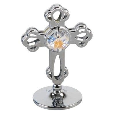 A CRYSTOCRAFT CROSS -  COMMUNION AND CHRISTENING -  CAKE TOPPER & KEEPSAKE-  SWAROVSKI CRYSTAL
