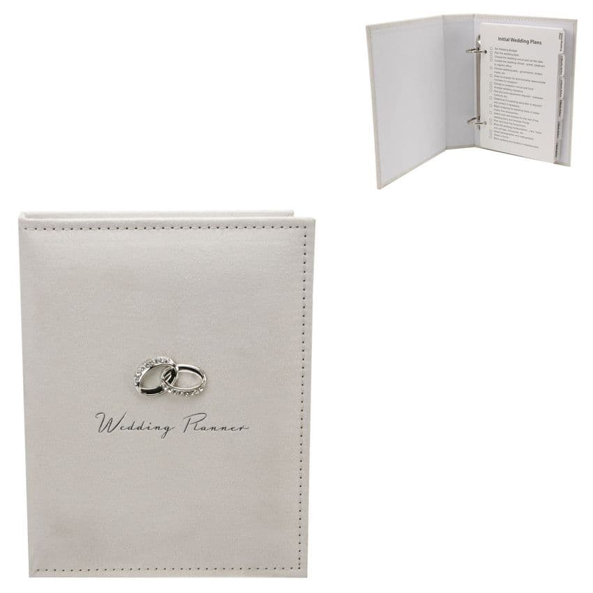 Amore Cream Suede Wedding Planner - Engagement Gift - Journal For Wedding Plans