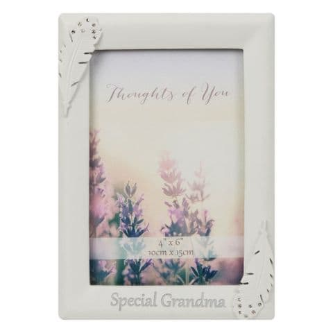 Angel Feather Memorial Photo Frame In Memory of a   For Special Grandma