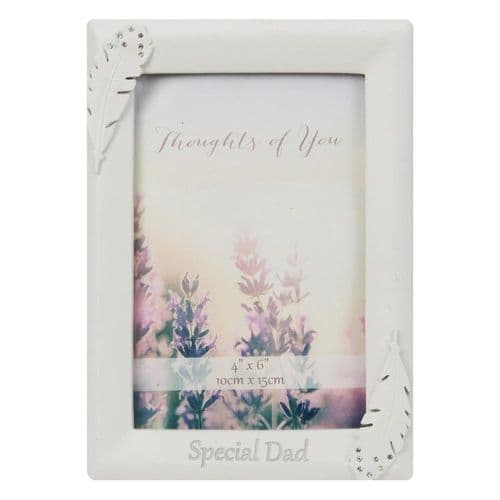 Angel Feather Memorial Photo Frame In Memory of a Special Dad