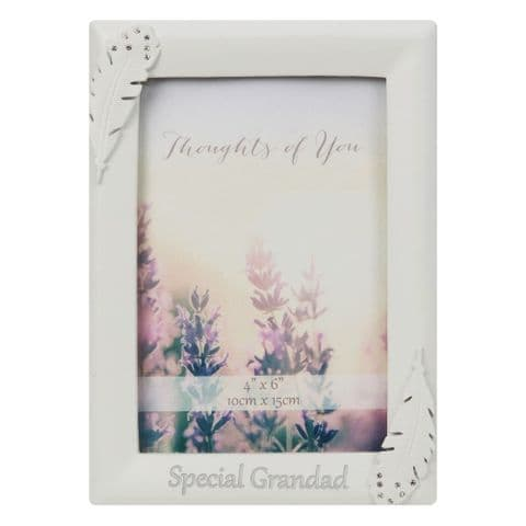 Angel Feather Memorial Photo Frame Thoughts Of You For Special Grandad