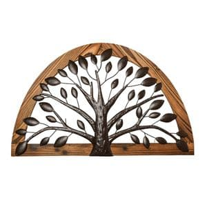 Arched Tree Of Life Metal Wall Art Sculpture For Home and Garden