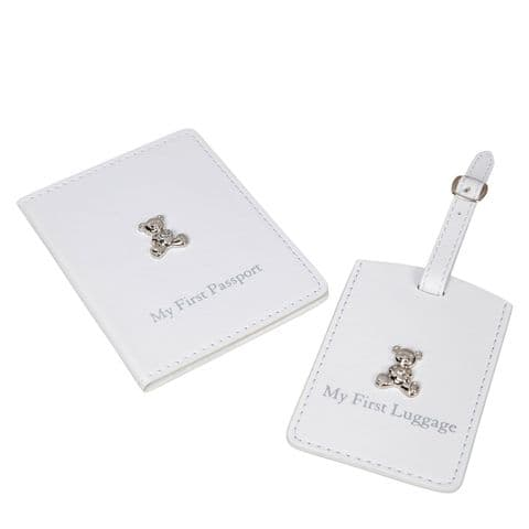 Baby Passport Cover and Luggage Tag - Gifts for New Baby and Christenings - My first Passport