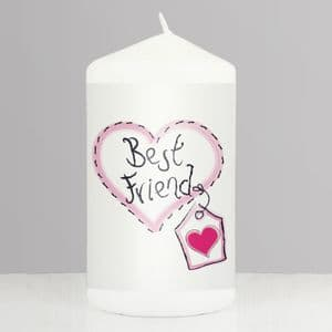 Best Friend  Gift Candle - Heart Stitch Candle Gift