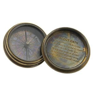 Brass Boy Scout Compass by Emporium Gifts for Men - Authentic replica antique boy scout compass gift